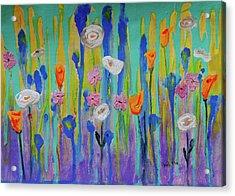 Morning Wildflowers Acrylic Print