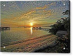 Acrylic Print featuring the photograph Mornings Embrace by HH Photography of Florida