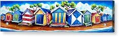 Mornington Beach Huts Acrylic Print