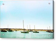 Moro Bay Inlet With Sailboats Mooring In Summer Acrylic Print