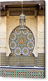 Moroccan Fountain Acrylic Print by Tom Gowanlock
