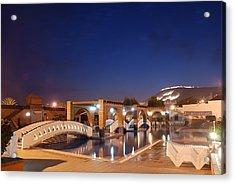 Moroccan Hotel Acrylic Print by Jaroslaw Grudzinski