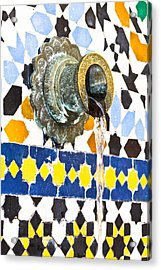 Moroccan Tap Acrylic Print by Tom Gowanlock