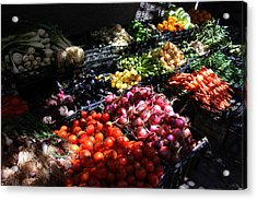 Acrylic Print featuring the photograph Moroccan Vegetable Market by Ramona Johnston