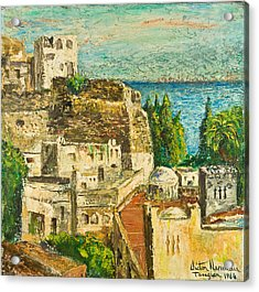 Morocco Palette Knife In Oil By Victor Herman Acrylic Print by Joni Herman