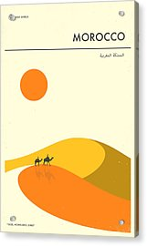 Morocco Travel Poster Acrylic Print