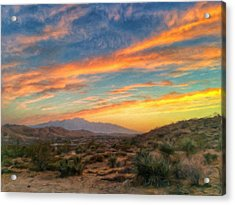Morongo Valley Sunset Acrylic Print by Snake Jagger