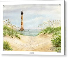 Morris Island Light House Acrylic Print by Lane Owen
