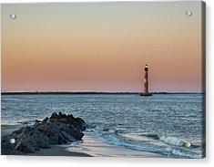 Morris Island Lighthouse Acrylic Print by Drew Castelhano