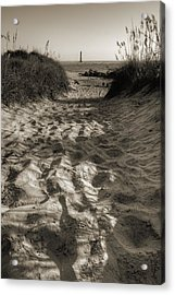 Morris Island Lighthouse Pathway Acrylic Print by Dustin K Ryan