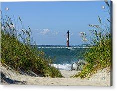 Morris Island Lighthouse Walkway Acrylic Print