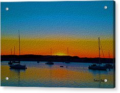 Morro Bay Abstract Sunset  Acrylic Print by Barbara Snyder