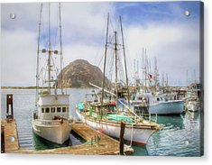 Acrylic Print featuring the photograph Morro Bay Rock And Marina by Donna Kennedy