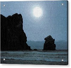 Morro Bay Rock Acrylic Print