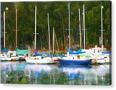 Morro Bay Sail Boats Acrylic Print