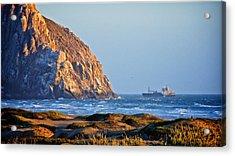 Fishing Trawler At Morro Rock Acrylic Print