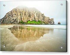 Morro Rock Reflection Acrylic Print by Joseph S Giacalone