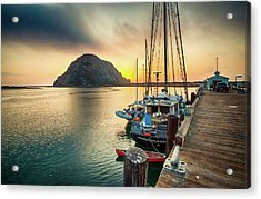 Morro Rock Sunset Acrylic Print