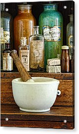 Mortar And Pestle Acrylic Print by Jill Battaglia