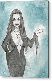 Morticia Addams Acrylic Print