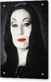Morticia Addams  Acrylic Print by Taylan Apukovska