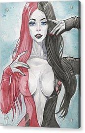 Morticia Harley Mashup Acrylic Print