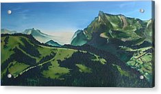 Acrylic Print featuring the painting Morzine by Mira Cooke