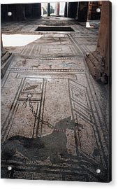 Acrylic Print featuring the photograph Mosaic In Pompeii by Marna Edwards Flavell