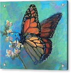 Mosaic Monarch Acrylic Print by Donna Shortt