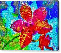 Mosaic Orchid Acrylic Print