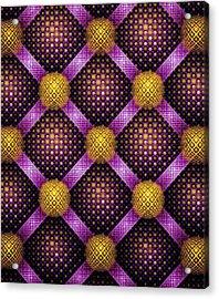 Mosaic - Purple And Yellow Acrylic Print by Anastasiya Malakhova