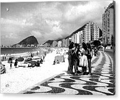 Mosaic Sidewalk, Rio De Janeiro Acrylic Print by Everett