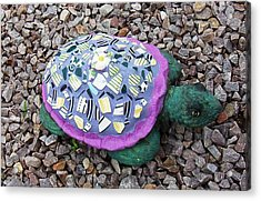 Acrylic Print featuring the ceramic art Mosaic Turtle by Jamie Frier