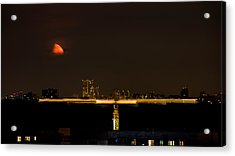 Moscow By Night Acrylic Print by Stelios Kleanthous