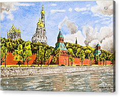 Moscow River Acrylic Print by Svetlana Sewell