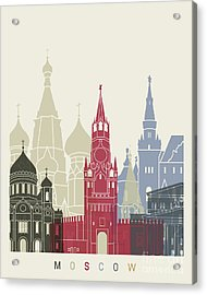 Moscow Skyline Poster Acrylic Print
