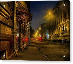 Moscow Steampunk Sketch Acrylic Print by Alexey Kljatov