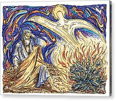 Moses And The Burning Bush Acrylic Print by Brent Kastler