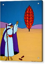 Moses And The Burning Bush Acrylic Print