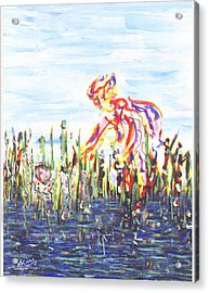 Moses In The Rushes Acrylic Print