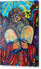 Acrylic Print featuring the painting Moses by Rae Chichilnitsky