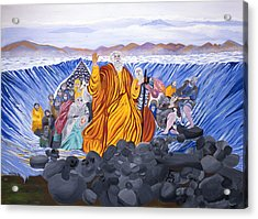 Moses Acrylic Print by Sima Amid Wewetzer