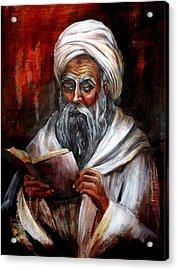 Moslem Man With Koran Acrylic Print