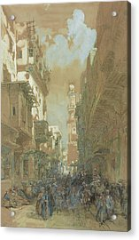 Mosque El Mooristan In Cairo Acrylic Print by David Roberts