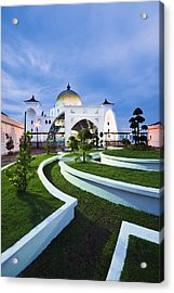 Mosque In Malaysia Acrylic Print by Ng Hock How
