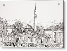 Mosque In Sarajevo Careva Dzamija Acrylic Print by Ramo Sabanovic