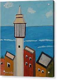 Mosque Seen From Jaffa Restaurant   Acrylic Print by Harris Gulko