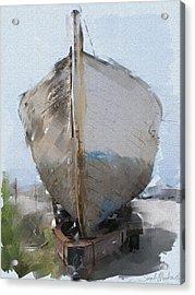 Moss Landing Boat Acrylic Print by Sarah Madsen