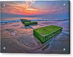 Mossy Blocks 6312 Acrylic Print by Dan Beauvais