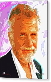 Most Interesting Man Acrylic Print by David Lloyd Glover